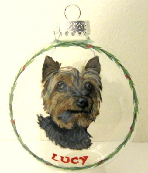 Yorkshire Terrier Dog Ornament Pet Loss Memorial Custom Pet