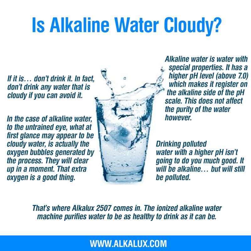 Is Alkaline Water Cloudy? | For more info about alkaline water: http ...