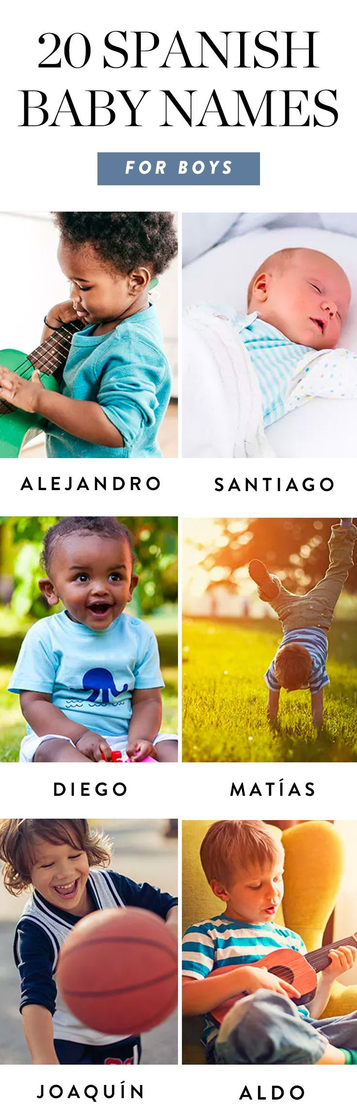 Italian Boy Name: 20 Spanish Baby Names For Boys That Are Muy Bonito