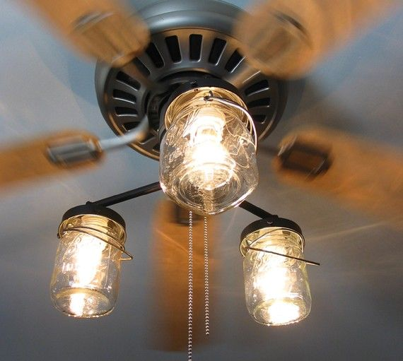 Ceiling Fan Light Kit Vintage Canning Jar Mason Jar Chandelier Lighting Fixture Flush Mount Pendant Farmhouse Kitchen Track Lamp Goods Ceiling Fan With Light Ceiling Fan Light Cover Fan Light