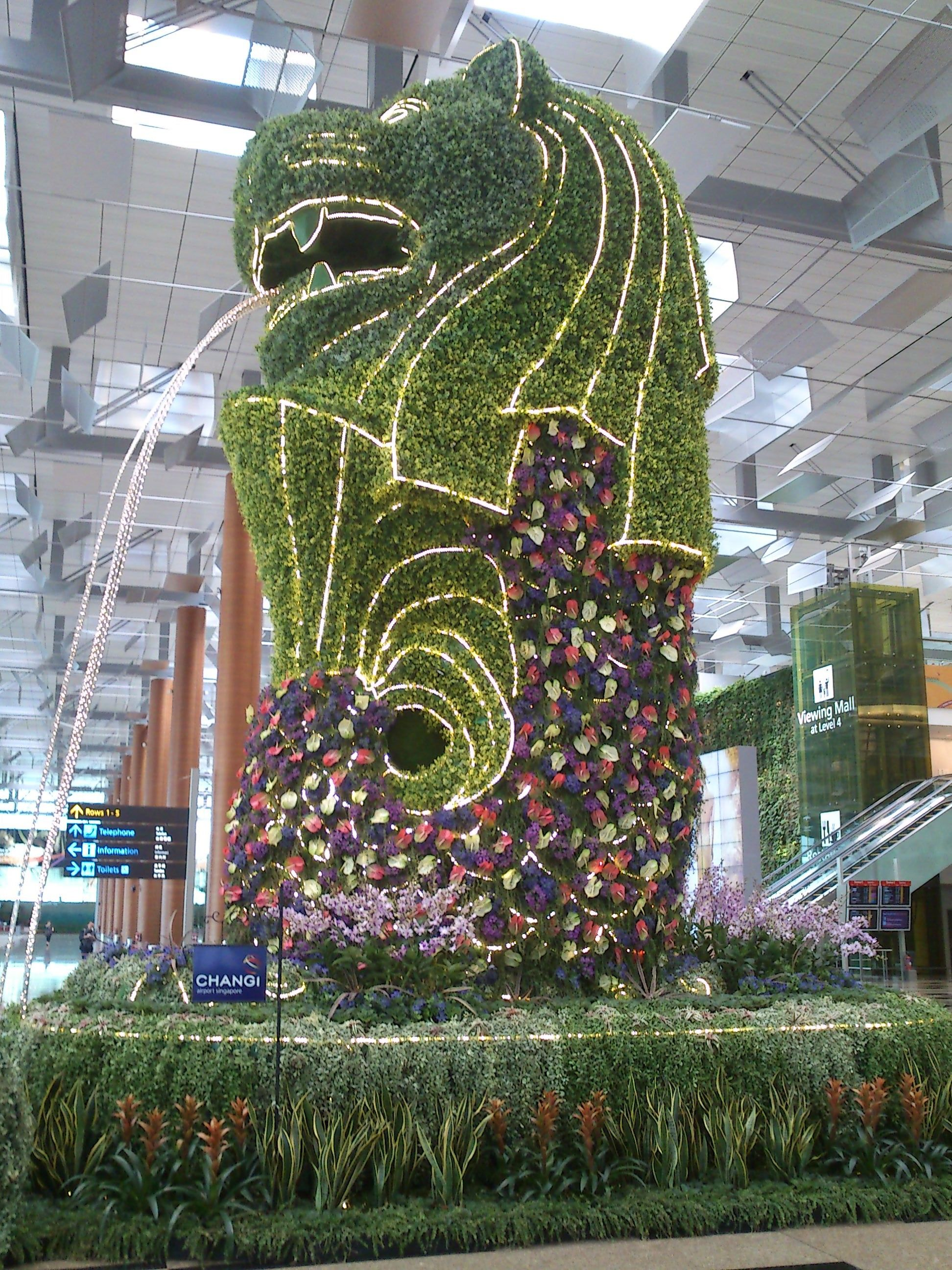 Merlion, Changi Airport, Singapore Changi airport