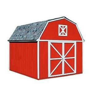 Sears Garden Shed, Little Red Barn, Gambrel Berkley Storage Shed W Locking  Lever (10 Ft. X 12 Ft. W Floor)   Lawn Garden   Sheds Outdoor Storage    Sheds .