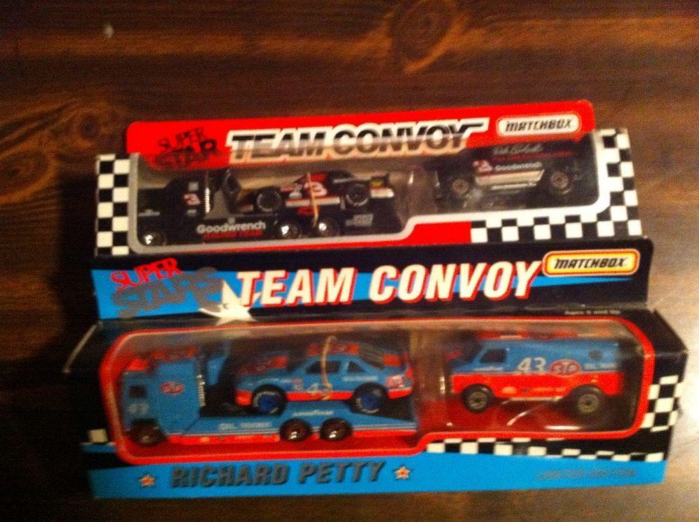 Matchbox Team Convoy LOT Richard Petty And Dale Earnhardt