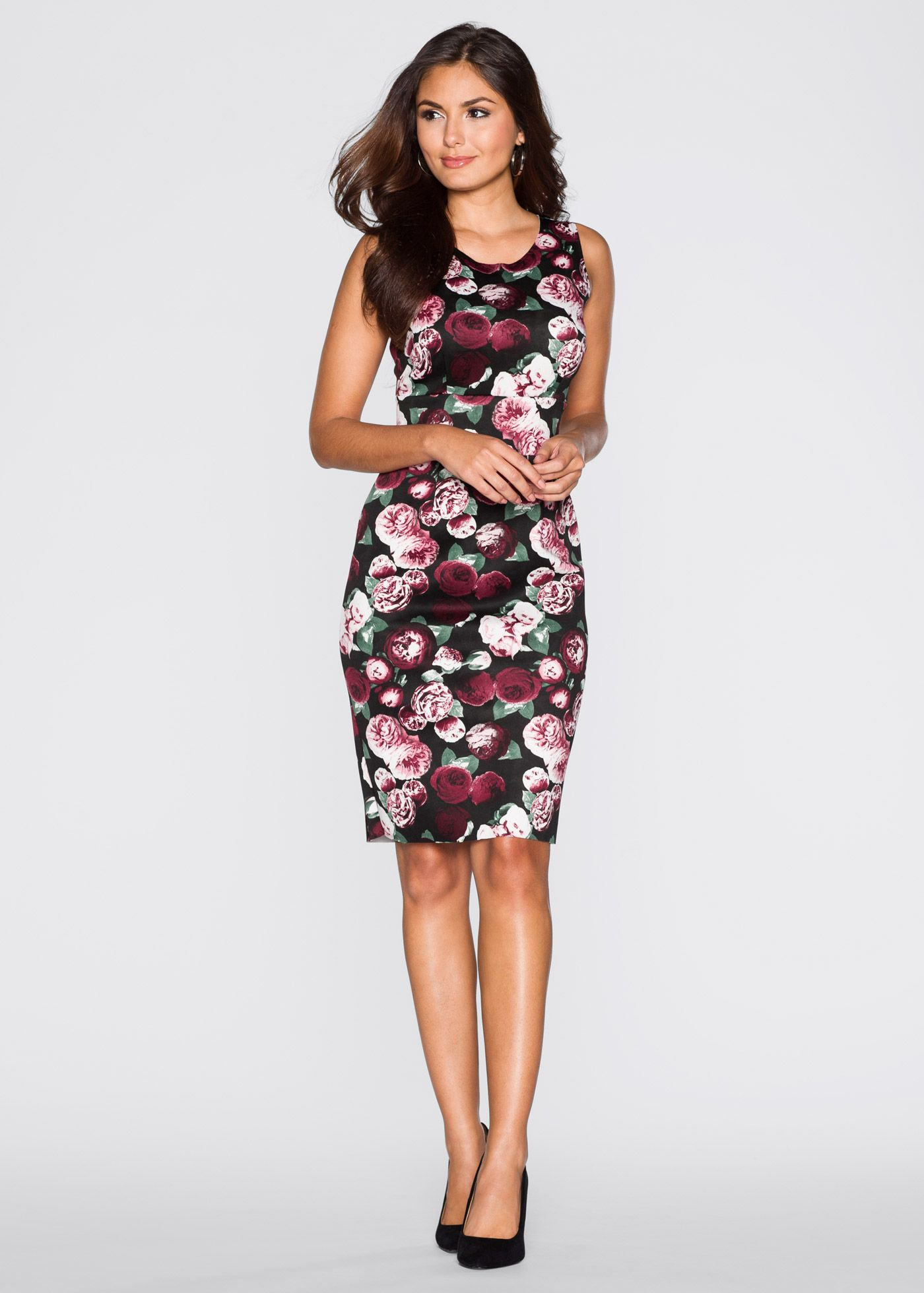 Apartes Kleid aus figurformendem Scuba-Material | Scuba-kleid ...