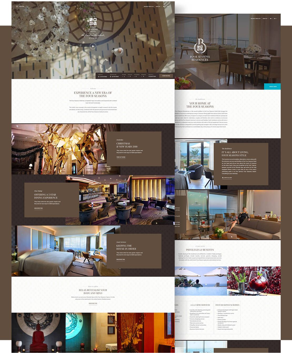 The Four Seasons Hotel Website Design In 2020 Hotel Website Design Elegant Website Design Website Design