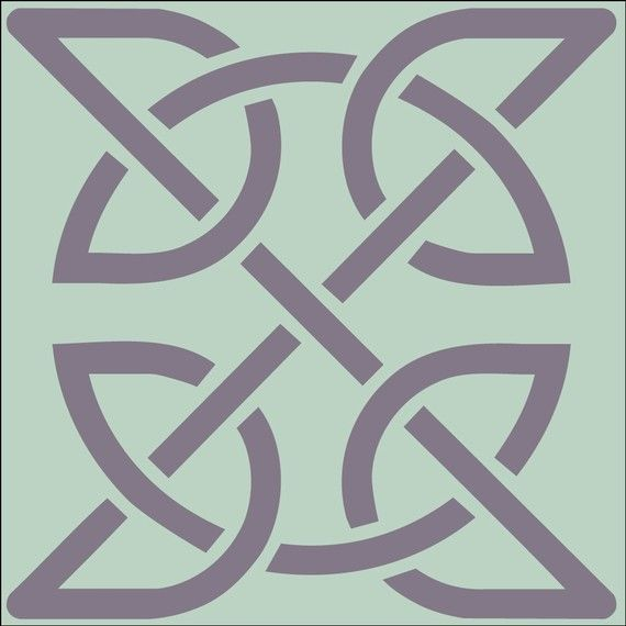Celtic knot 2 stencil 4 x 4 in 10 mil mylar the artful stencil 10 mil mylar the artful stencil ireland irish irish stencil celtic stencil craft stencils diy wall stencils art decoration painting crafting solutioingenieria Gallery