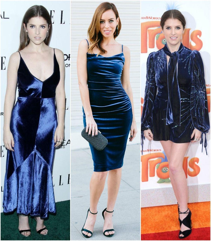 Inspired By  Anna Kendrick s Blue Velvet Dresses Sydne Style – Sydne Style b18400101