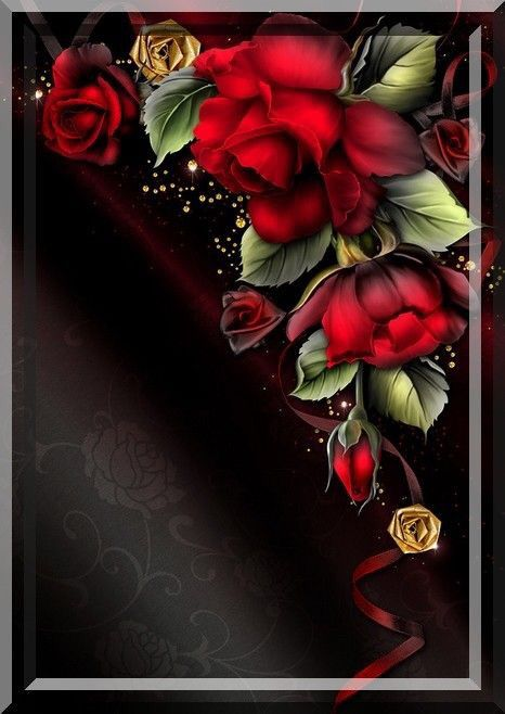 Beautiful Red Roses And Black J In 2019 Flower