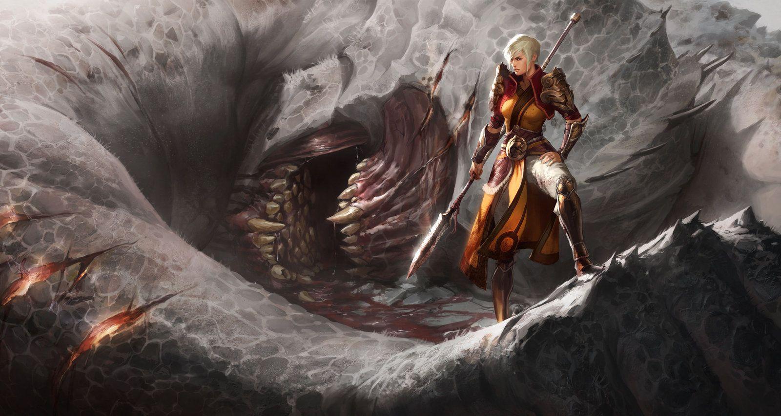 Another One Bites The Dust Female Monk Diablo 3 Games Wallpapers Art Digital Art Fantasy Fantasy Art