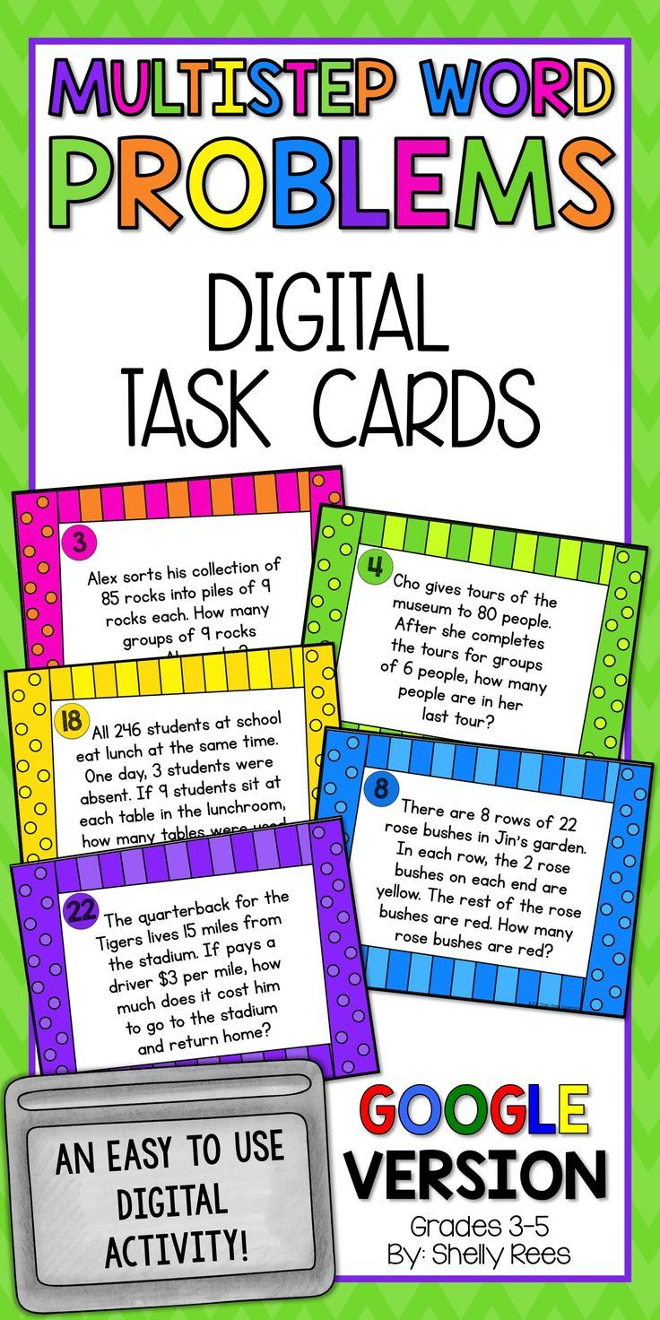 Multistep Word Problem Activities For 3rd 4th And 5th Grade Students Are Fun With These Colorful Multiste Multi Step Word Problems Word Problems Math Lessons