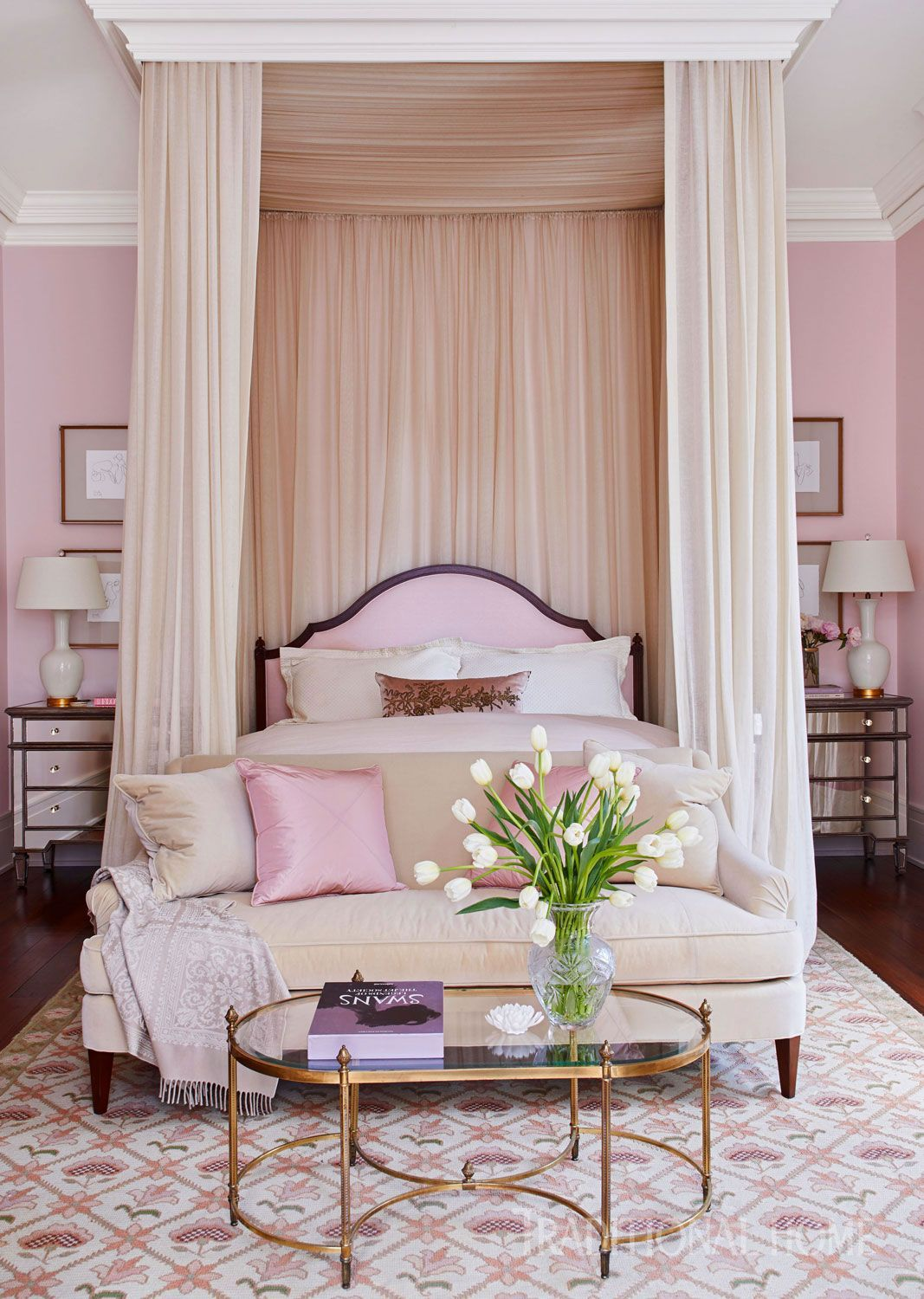 Master bedroom decor 2018  Stylishly Southern Mississippi Home in   Traditional Decor