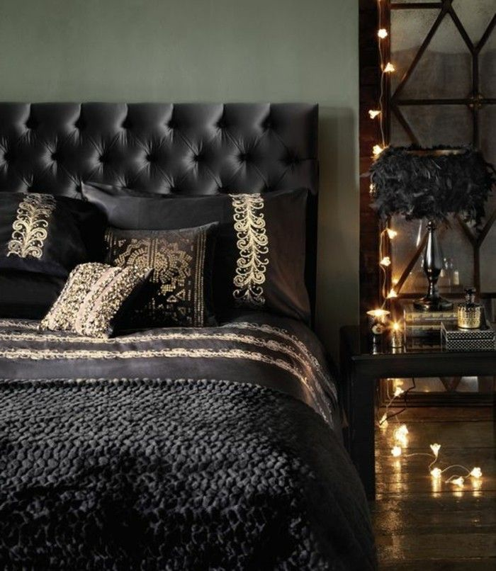 5 deko ideen schlafzimmer schwarzes bett kissen beleuchtung - schlafzimmer beleuchtung ideen