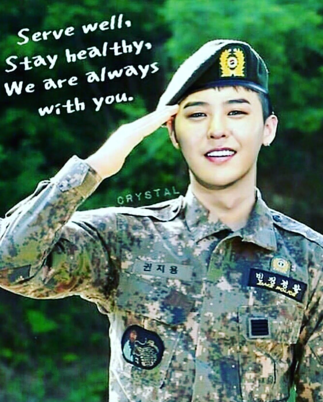 Kwon Jiyong Oppa Serve Well Take Care Stay Healthy We Are Always With You Gd Gdragon Kwonjiyong Bigbang G Dragon Bigbang G Dragon Bigbang
