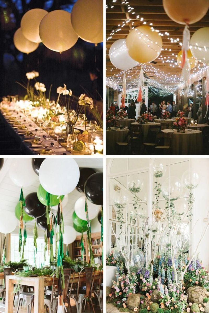 Reception De Mariage Ou D Anniversaire Champetre Avec Big Ballon Deco Mariage Idee Decoration Anniversaire Decoration Anniversaire