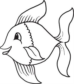 Cartoon Owl Coloring Page Cartoon Fish and Rock painting