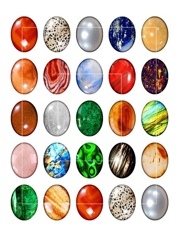 Printable DIY Cabochon Sheet Armnarm Motif graphics perfect for Jewelry making 30x40mm Oval Digital Collage
