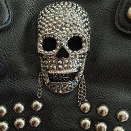 MG Collection Howea Gothic Studded Doctor Shoulder Bag, Black, One Size