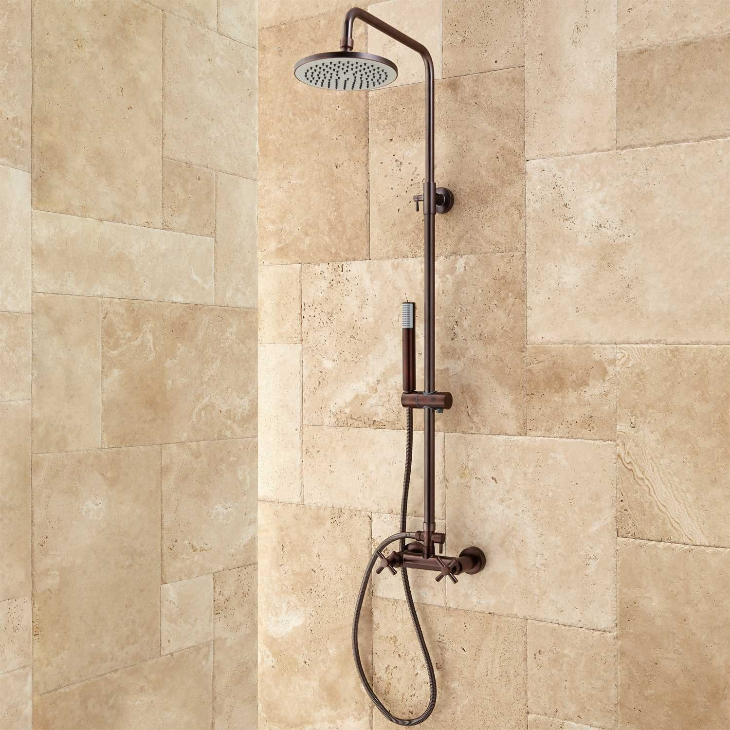 Lazzaro Exposed Pipe Shower | Pipes, Shower bathroom and Bath