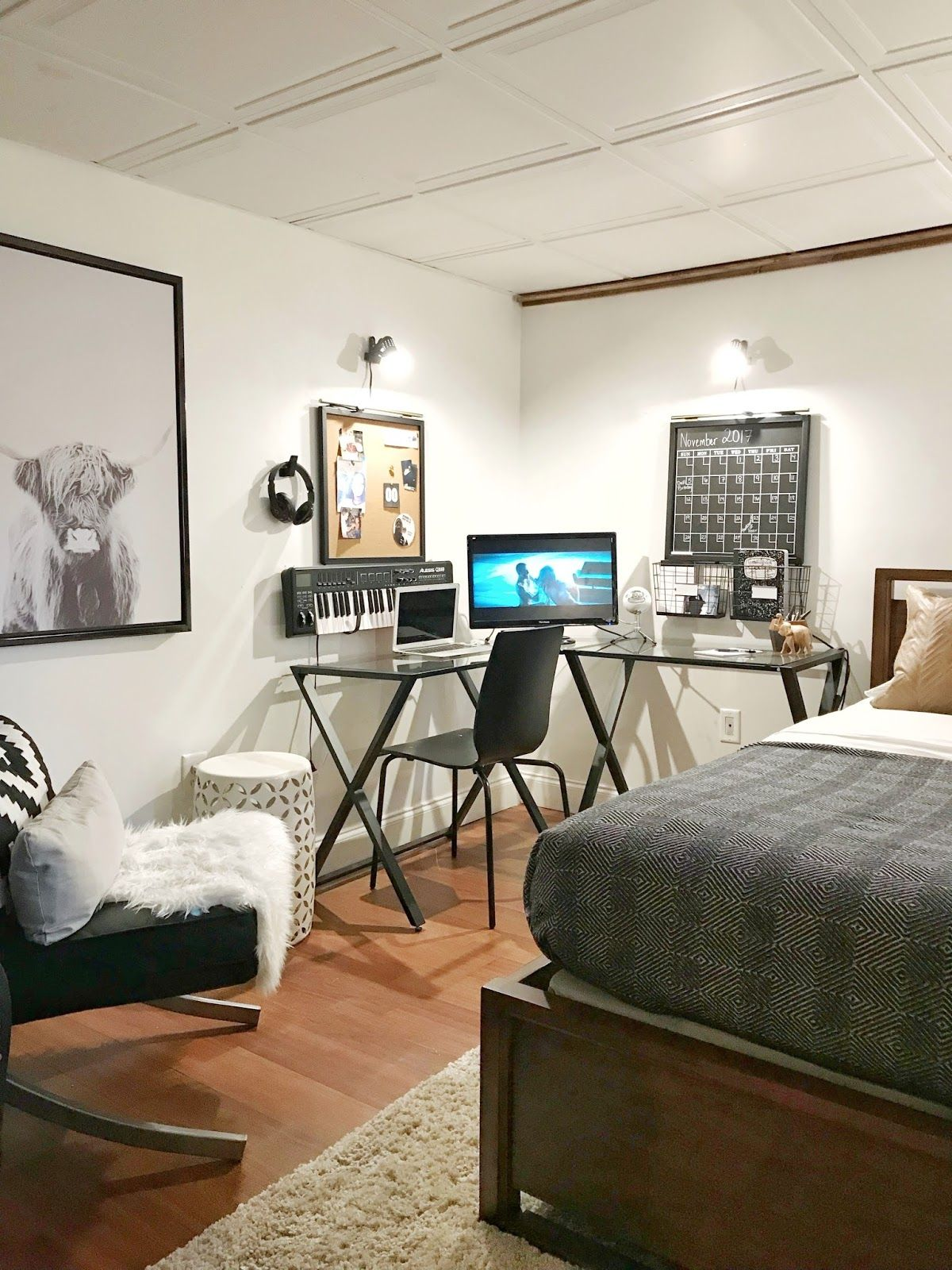 Photo of Teen Boy's Basement Bedroom Reveal – Made by Carli
