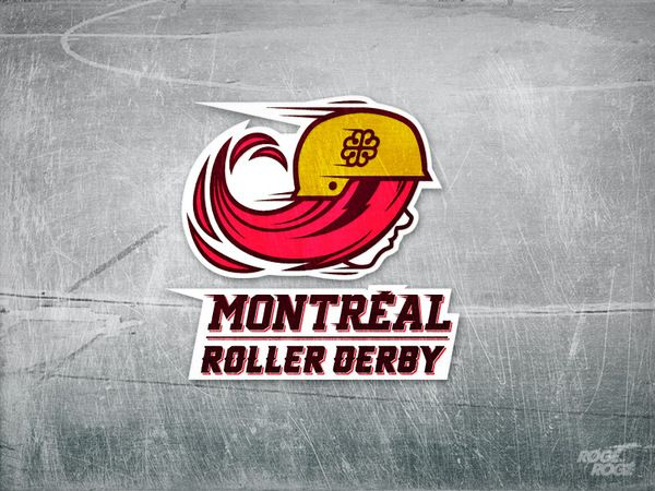 Montréal Roller Derby by Rogé Rogé, via Behance