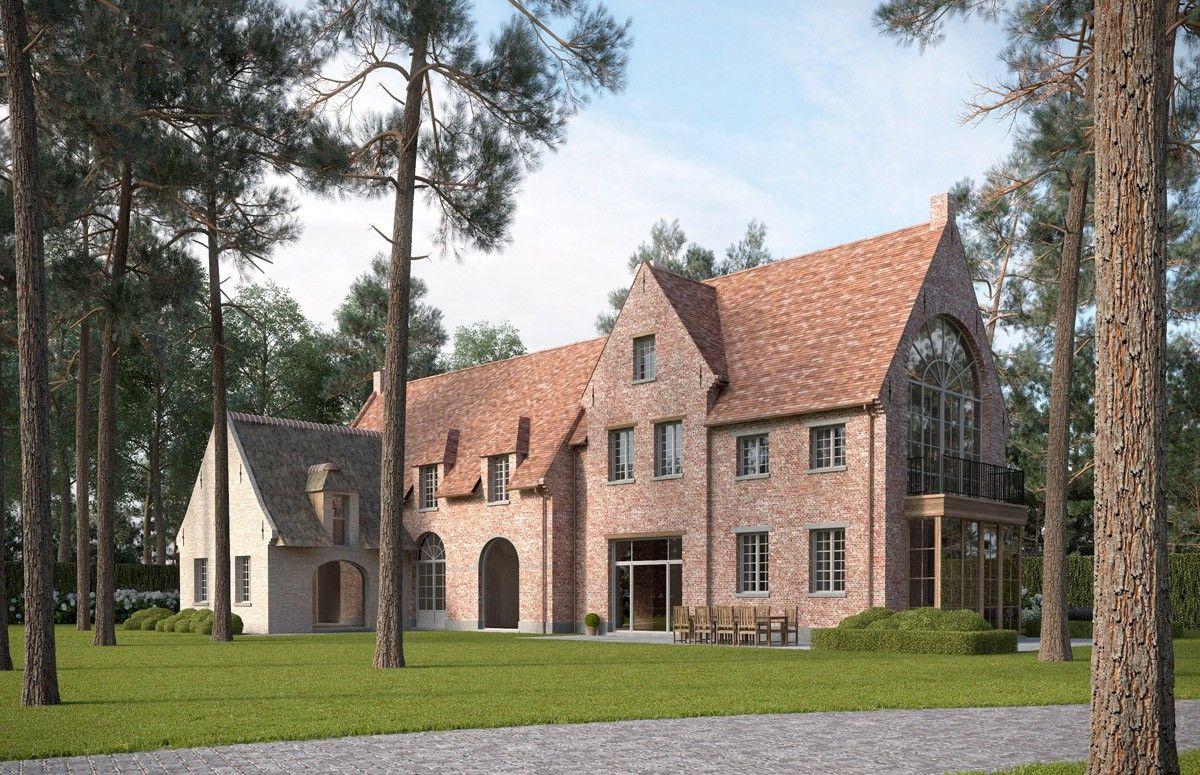 Landelijke villa bouwen van een huis in landelijke stijl for Landelijk bouwen architect