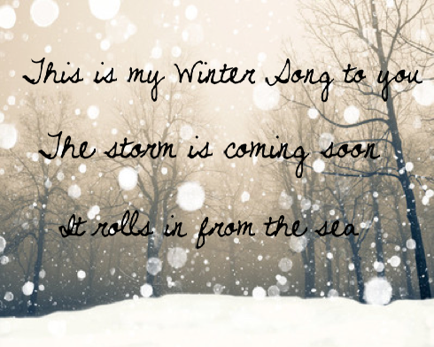 winter song quotes