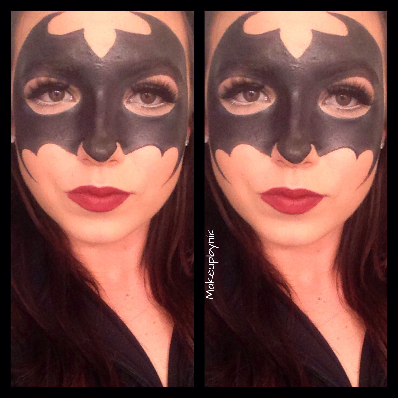 Batwoman makeup for Halloween at Sephora. makeupbynik