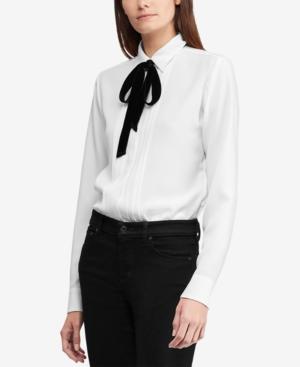 c81163a227f98 Lauren Ralph Lauren Triple-Georgette Shirt - Silk White 16 ...