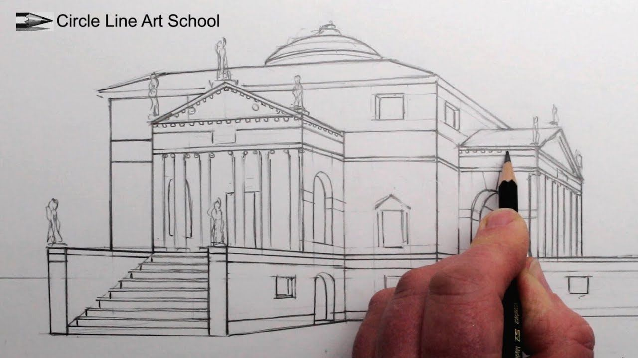 Comment dessiner une villa dans une perspective à 1 point ...