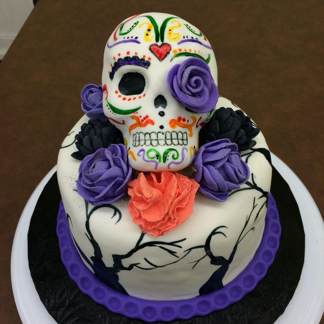 the skull halloween cake le cr ne g teau d 39 halloween. Black Bedroom Furniture Sets. Home Design Ideas