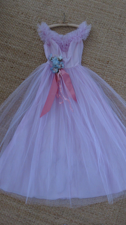 Vintage prom dress us pink tulle taffeta millinery lorrie