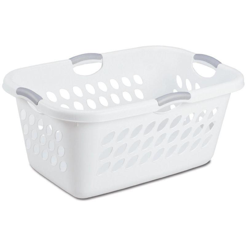 Sterilite 2 Bushel Ultra Laundry Basket With Titanium Handles White 12158006 1 2 Day Delivery 60 D Laundry