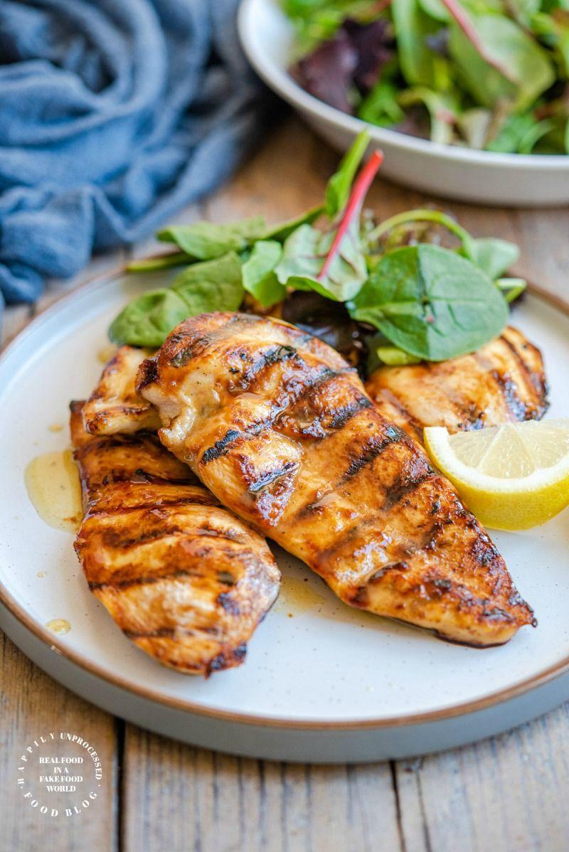 Best Grilled Chicken Marinade Happily Unprocessed Recipe In 2020 Grilled Chicken Marinade Chicken Marinades Grilled Chicken Recipes