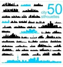 city silhouette vector - Google Search