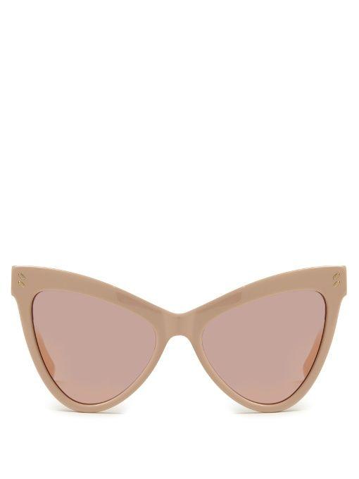 e802cf57b277 STELLA MCCARTNEY Cat-eye acetate sunglasses.  stellamccartney  sunglasses