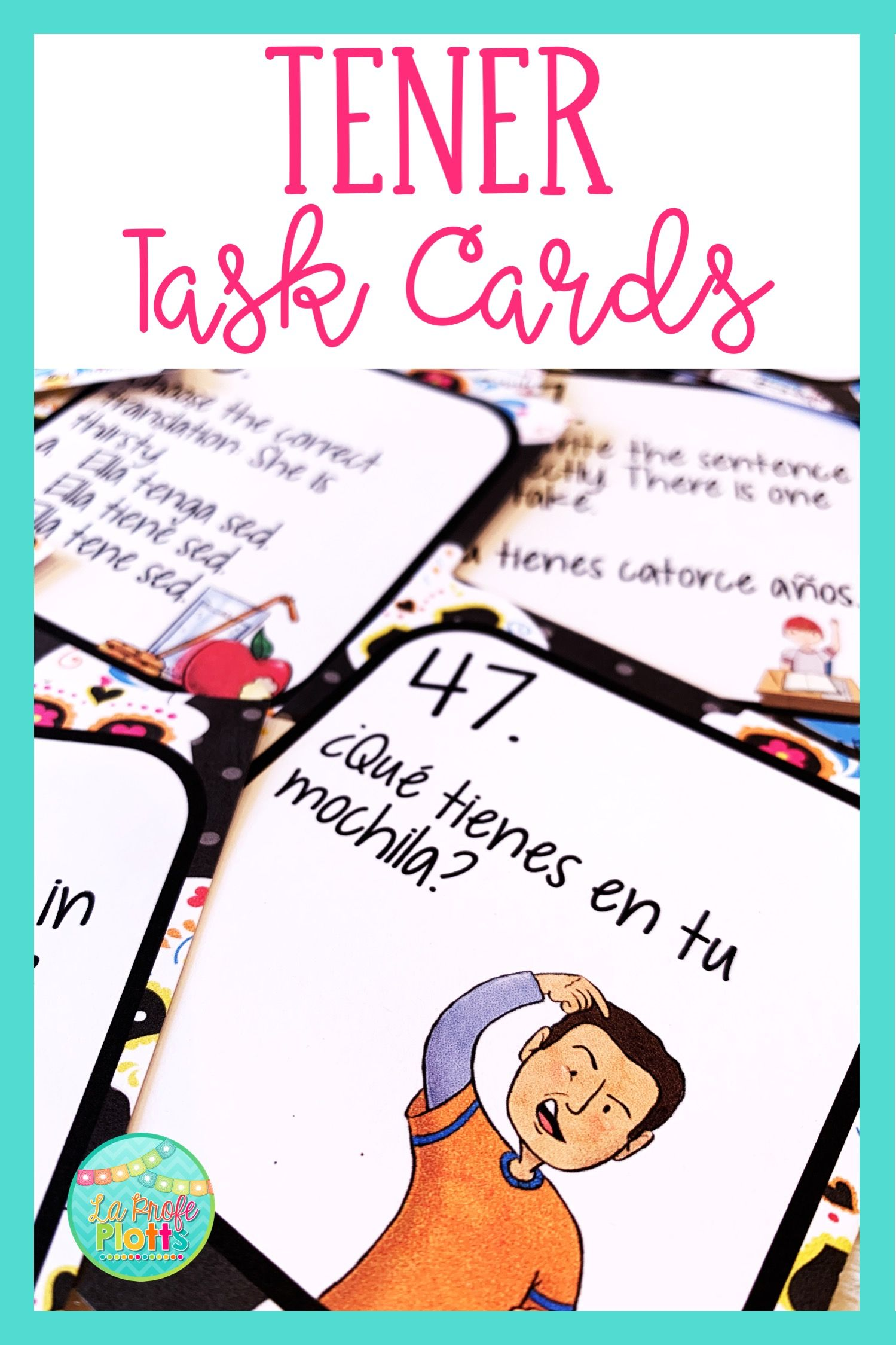 48 Spanish El Verbo Tener To Have Task Cards