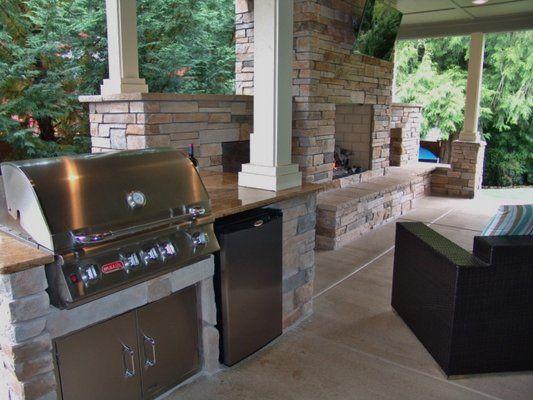 Outdoor Living Outdoor Fireplace Outdoor Kitchen Granite