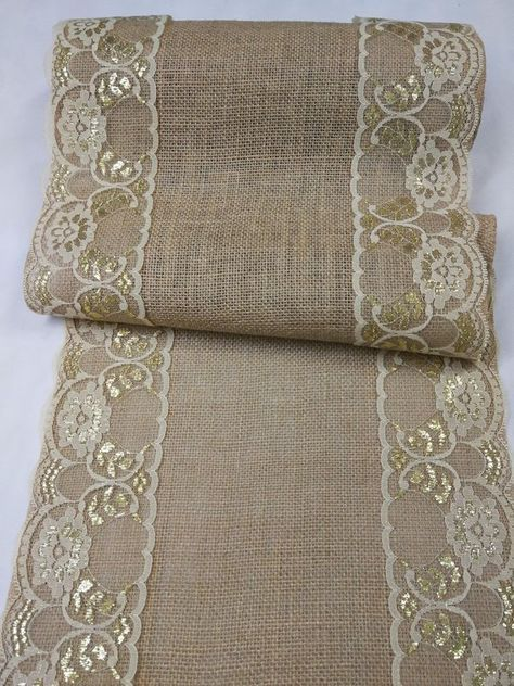 Gold lace Burlap Table Runner,Rustic Home Decor,Holiday Table Runner Wedding,Wedding Decor Bridal,runners for wedding, burlap wedding HD32