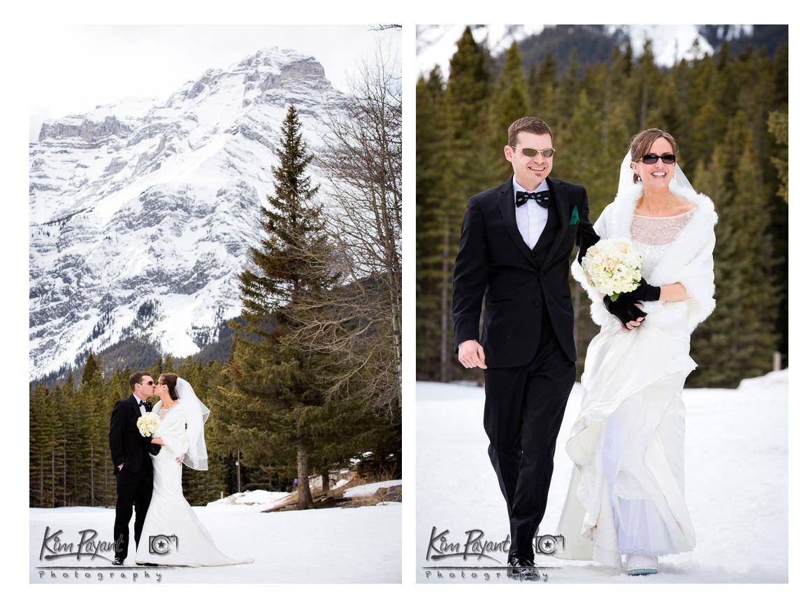 *Real Wedding*Rocky Mountain Wedding*Banff/Canmore Wedding*Photographer*winter wedding*Romantic Wedding*bride and groom portrait*www.kimpayantphotography.com