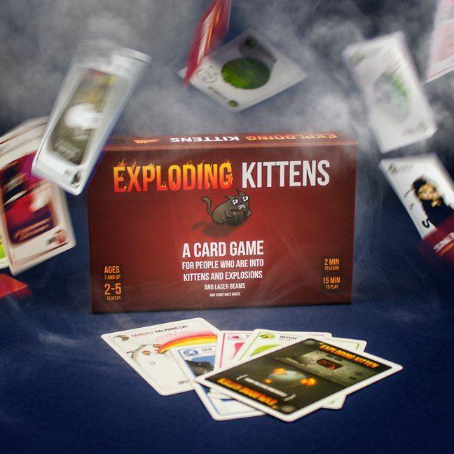 Exploding Kittens Firebox For The Boys 3 Exploding Kittens Exploding Kittens Card Game Fun Card Games