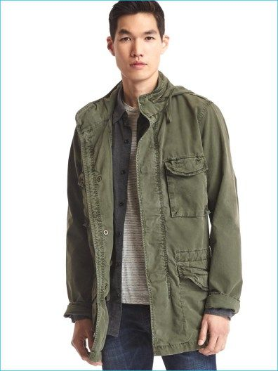 Military Style Trending: Gap Makes a Case for the Fatigue Jacket ...