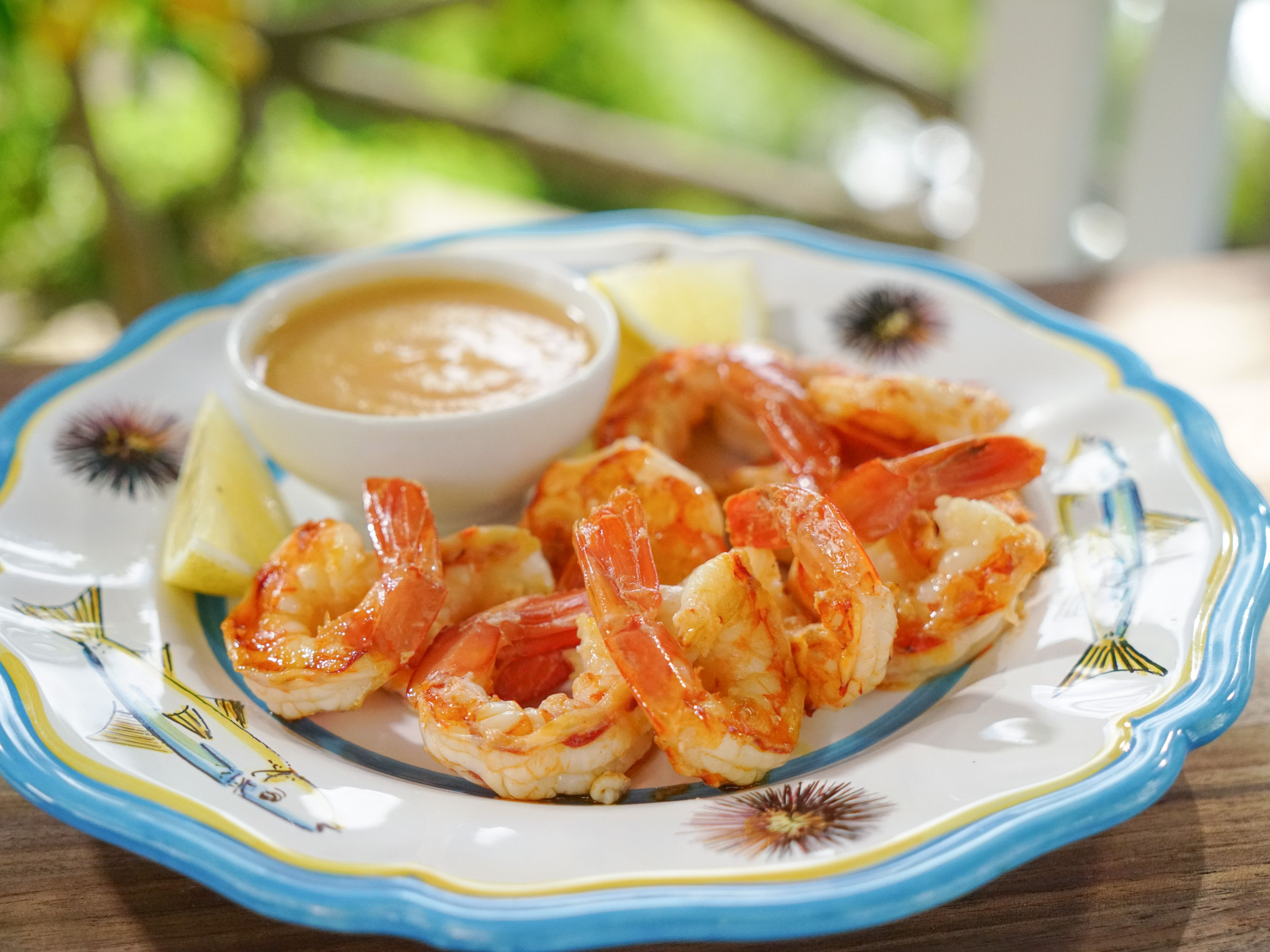 Grilled Shrimp With Peach Cocktail Sauce Recipe Food Network Recipes Giada Recipes Cocktail Sauce