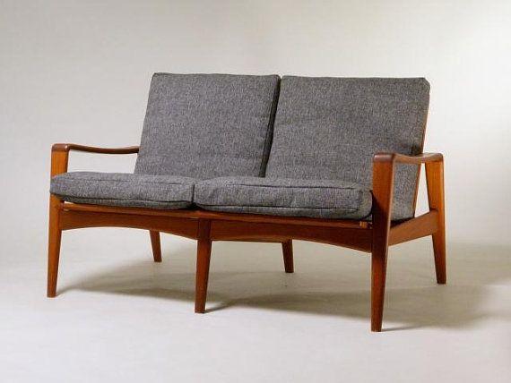 60s Teaksofa Arne Wahl Iversen Komfort Made In Denmark Teakwood Midcentury Sofa Furniture Design Danish Design Furniture