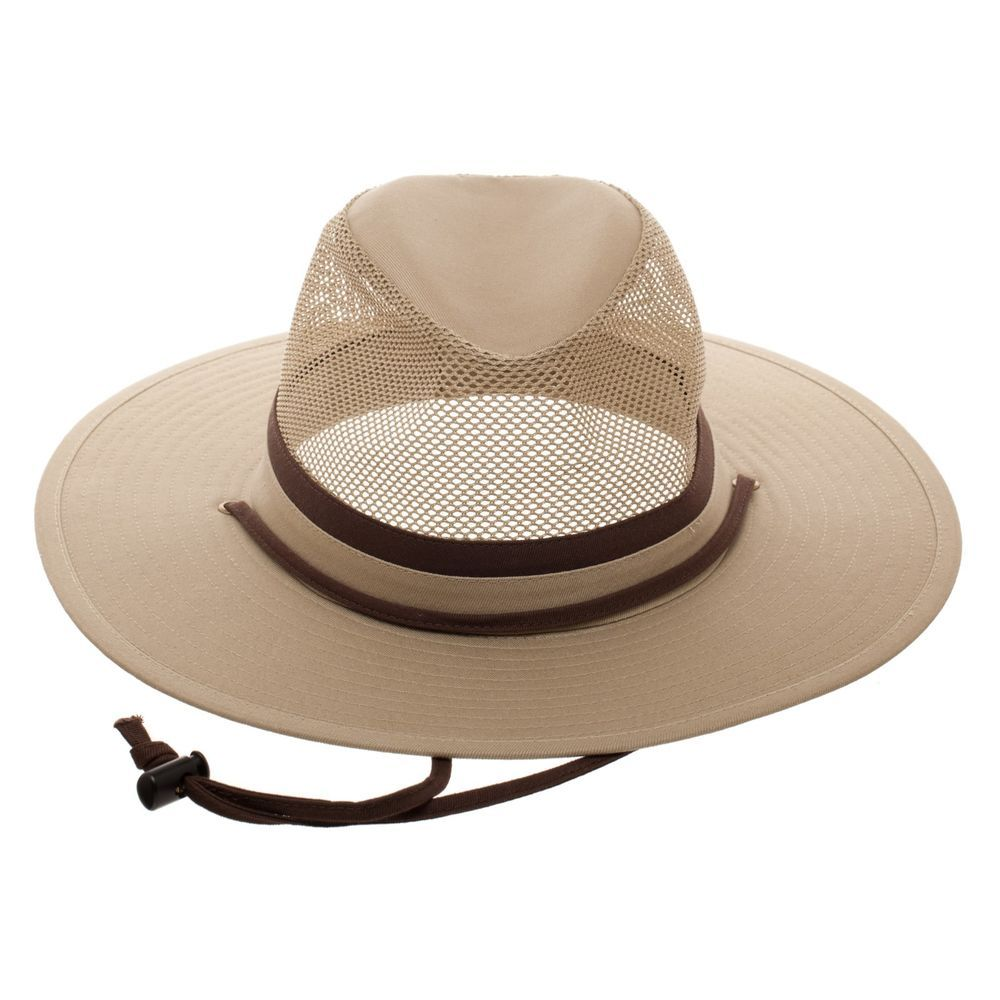 691f8c8fa2b Mens Swiss Tech Fitted Khaki Safari Fishing Hiking Cap Hat Mesh  SwissTech   Safari