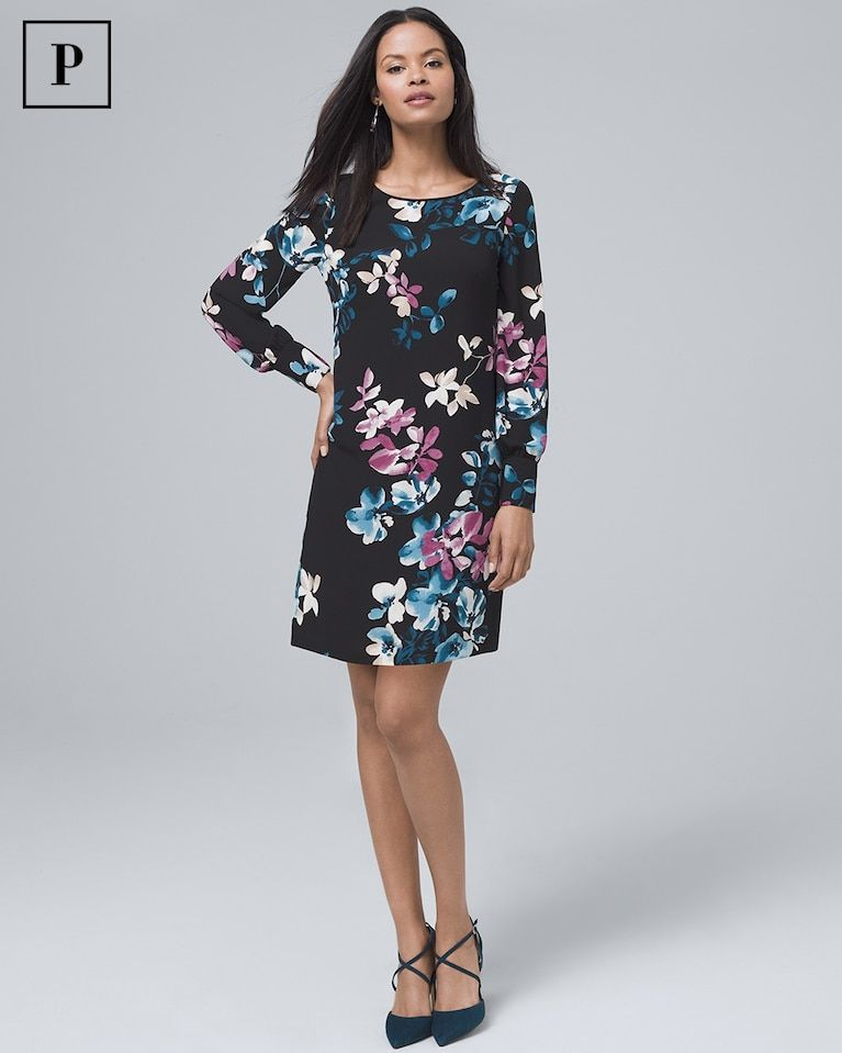 576dae5e2474 Women's Petite Floral-Print Shift Dress by White House Black Market ...