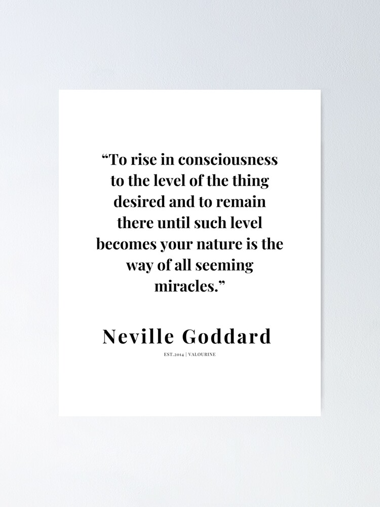 8   | Neville Goddard Quotes | 210308 | Motivational Quote Poster by QuotesGalore