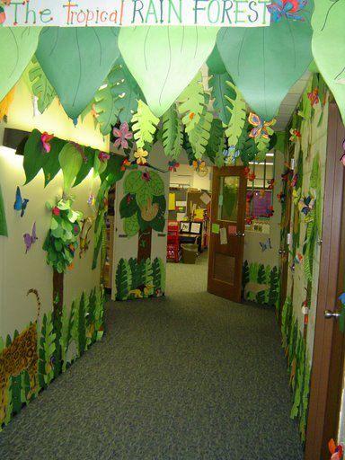 Decoraci n de los pasillos del colegio trabajos y for Puertas decoradas con dinosaurios