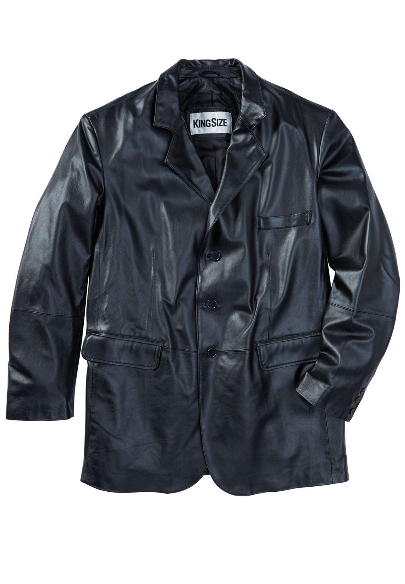 Big and Tall ThreeButton Leather Jacket (With images