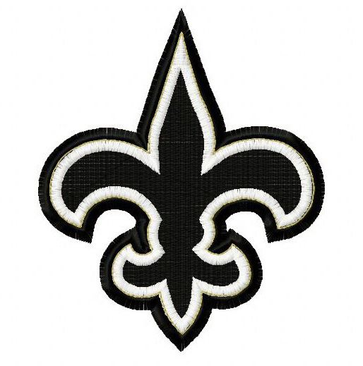 New Orleans Saints 50th Anniversary 4 Embroidery Design New Orleans Saints Logo New Orleans Saints Saints