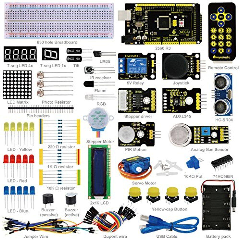 NEW! Advance Mega 2560 Starter Kit for Arduino 1602LCD Servo